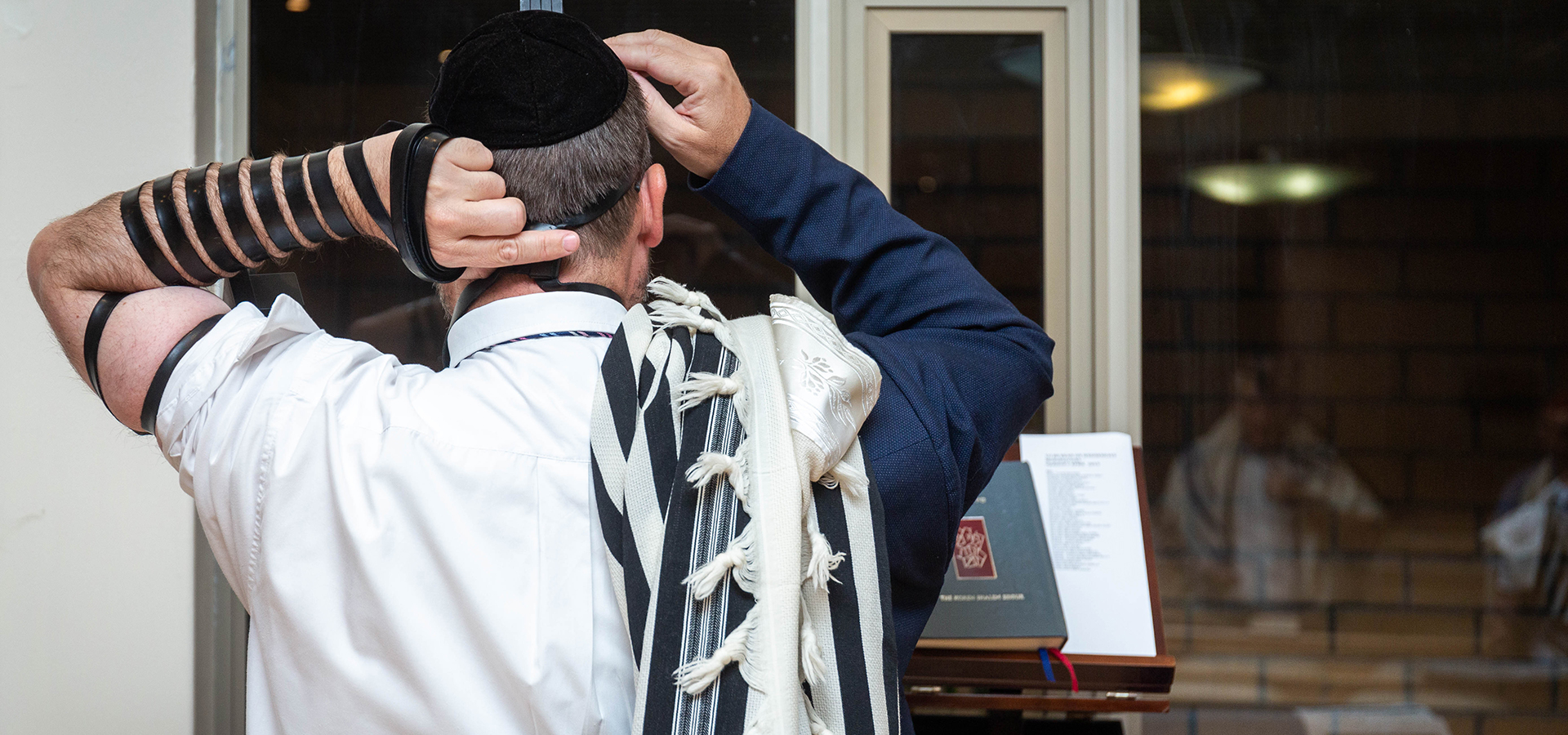 Rabbi Liebenberg From Behind